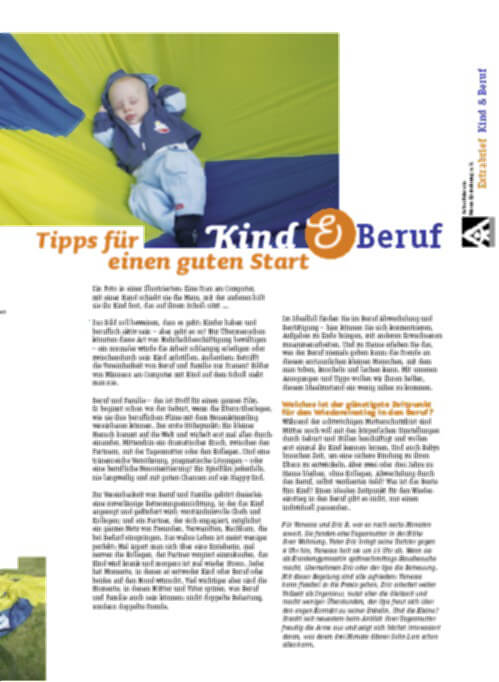 Elternbrief Kind und Beruf Broschüre (c) bmfsfj.de