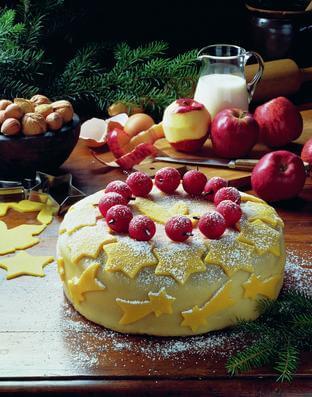 Weihnachtliche Apfeltorte (c) welt-der-rezepte.de