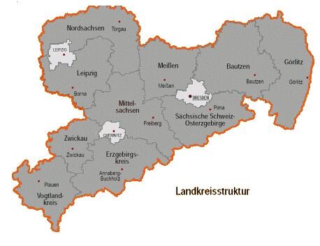 Karte von Sachsen (c) familienfreunde.de