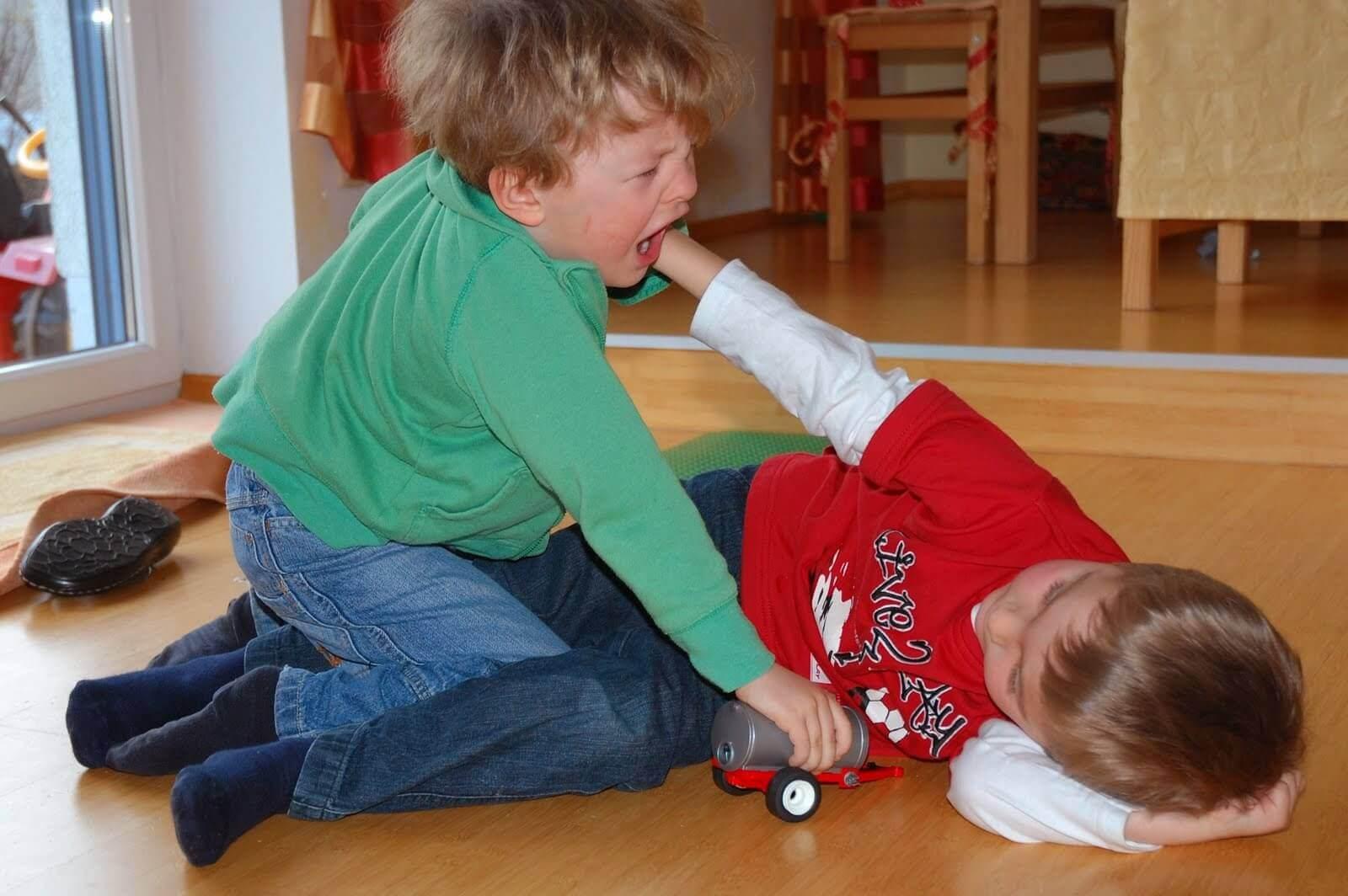 Kind | 2 Jungen raufen (c) erysipel  / pixelio.de