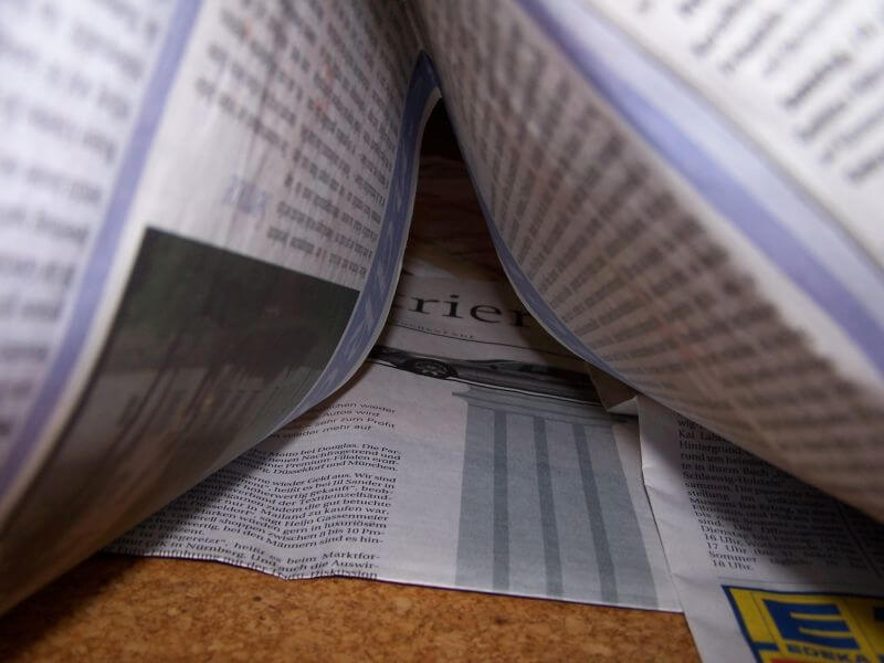 Zeitung mit Informationen (c) cajul / pixelio.de