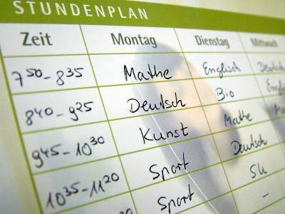 Schule | Stundenplan (c) Claudia Hautumm / pixelio.de