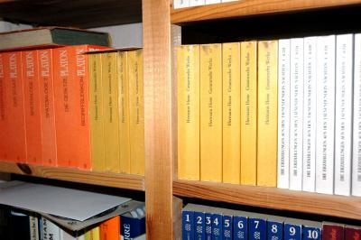 Schule | Bücher im Regal (c) Paul-Georg Meister / pixelio.de