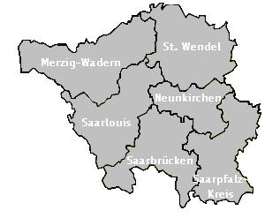 Karte Saarland (c) familienfreunde.de