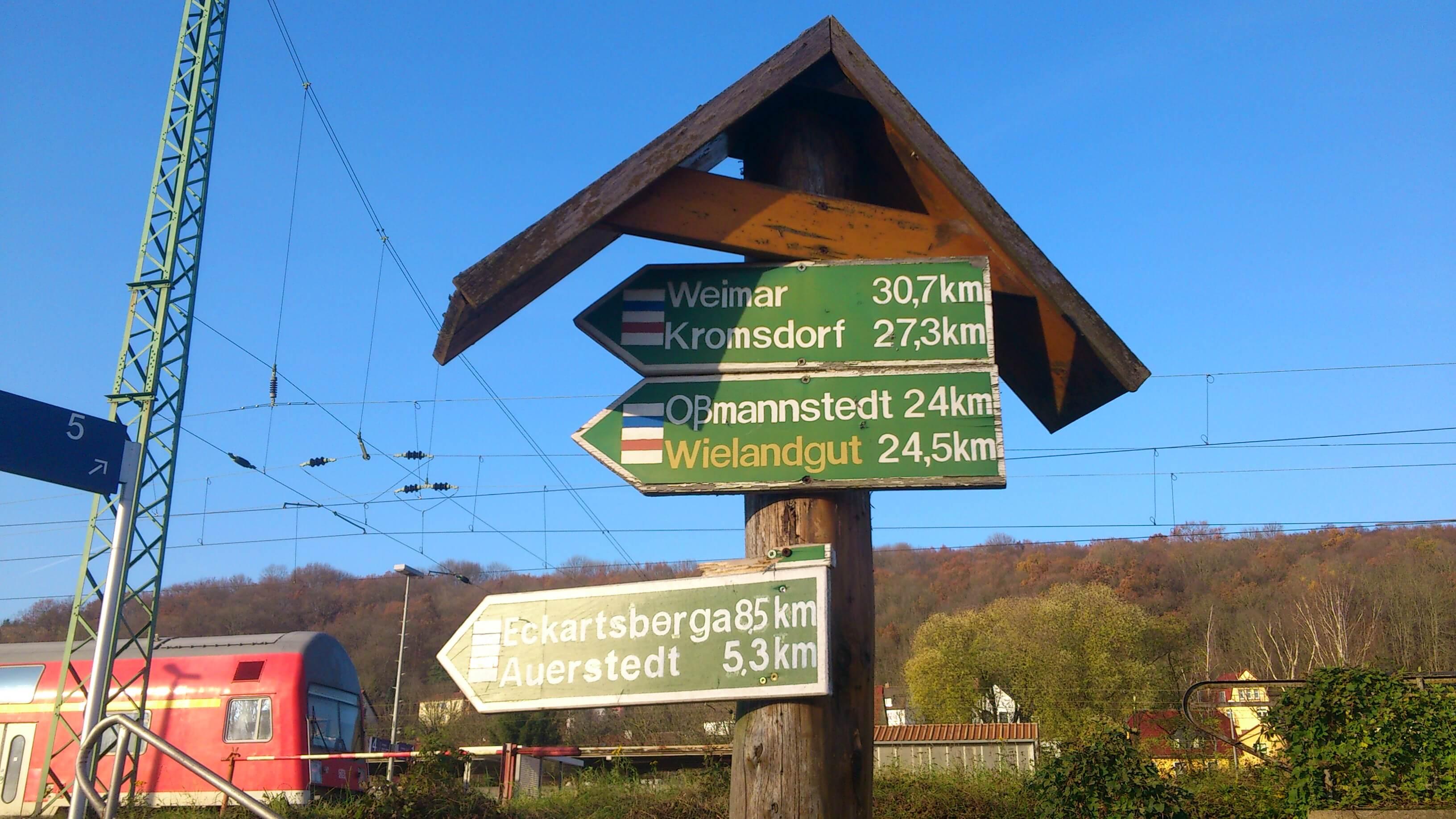 Ein Wegweiser hilft bei einem Ausflug die richtige Richtung einzuschlagen. (c) familienfreund.de
