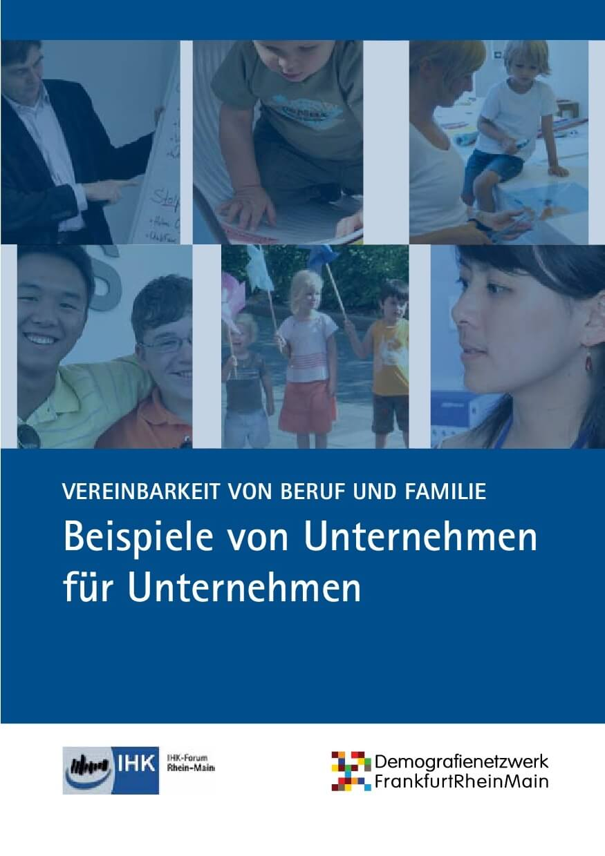 Broschüre Vereinbarkeit von Beruf und Familie (c) demografienetzwerk-frm.de
