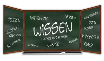 Schule | Tafel mit Schulfächern (c) gerd altmann / pixelio.de