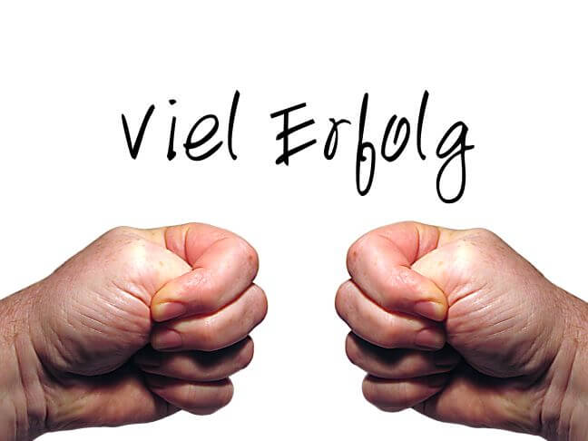 Viel Erfolg (c) gerd altmann / pixelio.de