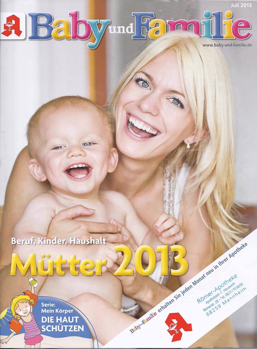 Zeitungscover Baby und Familie (c) baby-und-familie.de
