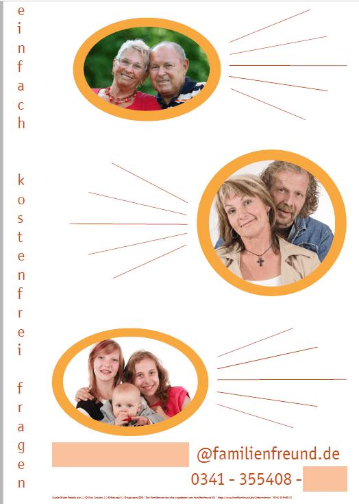 lebensphasenorietiertes Plakat des Familienservice
