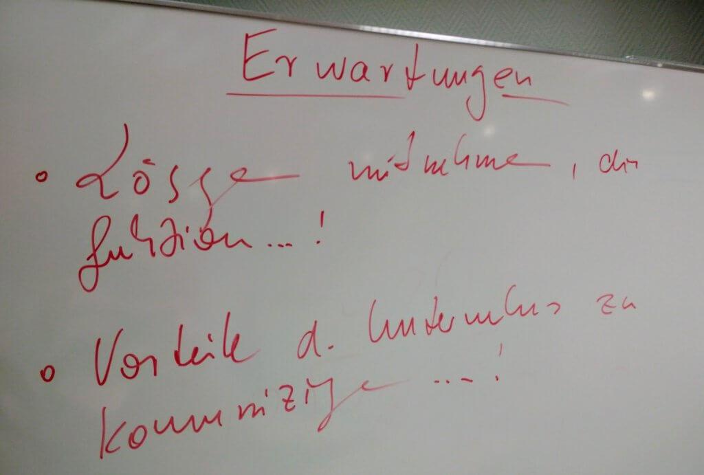 Erwartungen zum Workshop zur Fachkräftesicherung in Riesa (c) familienfreund.de