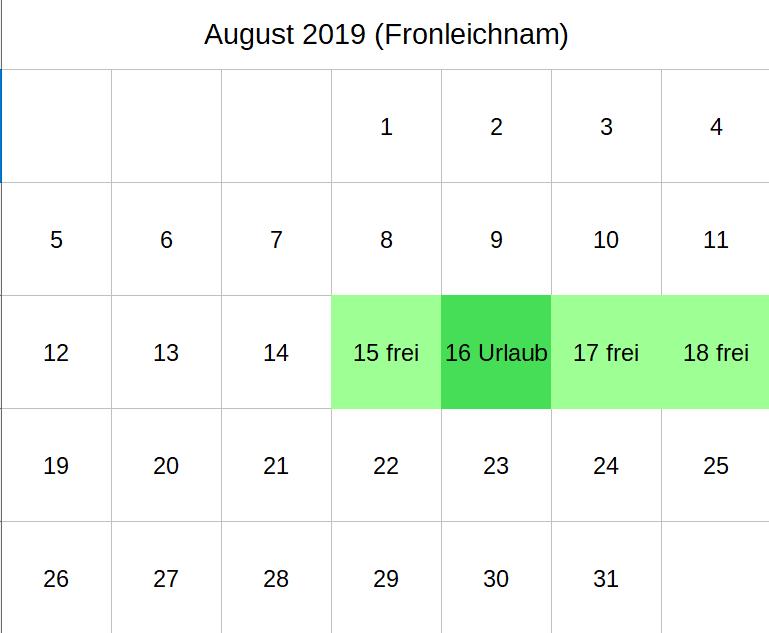 Brückentage August 2019 (c) familienfreund KG